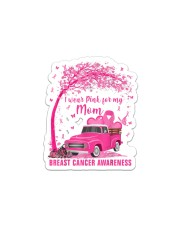 I Wear Pink For My Mom Breast Cancer Awareness  Sticker - Single (Vertical) thumbnail