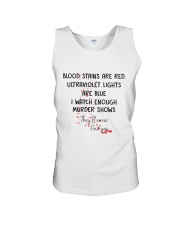 Blood Stains Are Red Ultraviolet Lights Are Blue Unisex Tank thumbnail