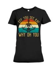 EFF You See Kay Why Oh You Skeleton Yoga Lovers Premium Fit Ladies Tee thumbnail