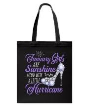 January Girls Are Sunshine Mixed With Hurricane Tote Bag thumbnail