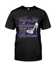 January Girls Are Sunshine Mixed With Hurricane Classic T-Shirt thumbnail