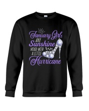 January Girls Are Sunshine Mixed With Hurricane Crewneck Sweatshirt thumbnail