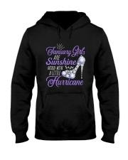 January Girls Are Sunshine Mixed With Hurricane Hooded Sweatshirt thumbnail