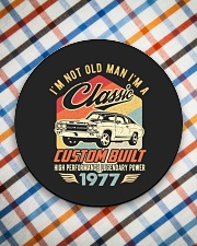 Classic Car - 43 Years Old Matching Birthday Tee  Circle Coaster aos-coaster-round-front-lifestyle-8