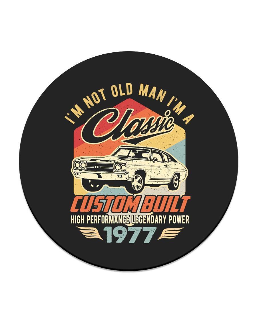 Classic Car - 43 Years Old Matching Birthday Tee  Circle Coaster