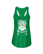 Feelin' Willie Lucky Irish Flag St Patrick's Day Ladies Flowy Tank tile