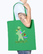Lepricorn Leprechaun Unicorn Shamrock St Patrick' Tote Bag accessories-tote-bag-BE007-front-model-02