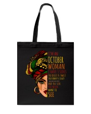 I'm A October Woman I Have 3 Sides Birthday Gift Tote Bag thumbnail