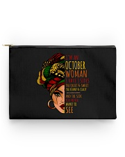 I'm A October Woman I Have 3 Sides Birthday Gift Accessory Pouch - Standard thumbnail