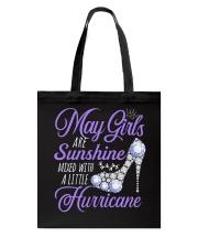 May Girls Are Sunshine Mixed With Hurricane Tote Bag thumbnail