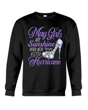 May Girls Are Sunshine Mixed With Hurricane Crewneck Sweatshirt front