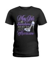 May Girls Are Sunshine Mixed With Hurricane Ladies T-Shirt thumbnail