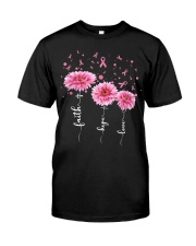 Faith Hope Love Pink Daisy Flower Ribbon Classic T-Shirt thumbnail