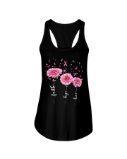 Faith Hope Love Pink Daisy Flower Ribbon Ladies Flowy Tank thumbnail
