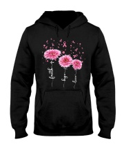 Faith Hope Love Pink Daisy Flower Ribbon Hooded Sweatshirt thumbnail