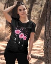 Faith Hope Love Pink Daisy Flower Ribbon Ladies T-Shirt apparel-ladies-t-shirt-lifestyle-06
