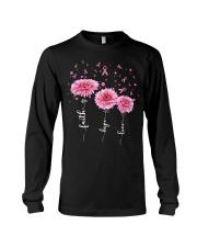 Faith Hope Love Pink Daisy Flower Ribbon Long Sleeve Tee thumbnail