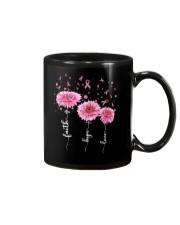 Faith Hope Love Pink Daisy Flower Ribbon Mug thumbnail