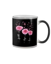 Faith Hope Love Pink Daisy Flower Ribbon Color Changing Mug thumbnail