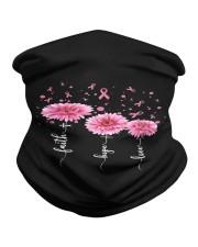 Faith Hope Love Pink Daisy Flower Ribbon Neck Gaiter thumbnail
