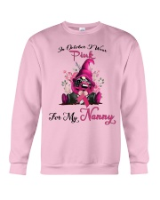 In October I Wear Pink For My Nanny Gnome Breast  Crewneck Sweatshirt thumbnail