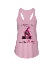 In October I Wear Pink For My Nanny Gnome Breast  Ladies Flowy Tank thumbnail