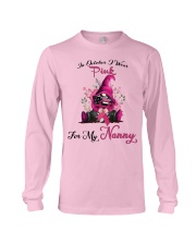 In October I Wear Pink For My Nanny Gnome Breast  Long Sleeve Tee thumbnail