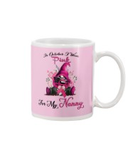 In October I Wear Pink For My Nanny Gnome Breast  Mug thumbnail