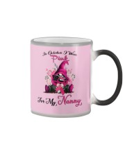 In October I Wear Pink For My Nanny Gnome Breast  Color Changing Mug thumbnail