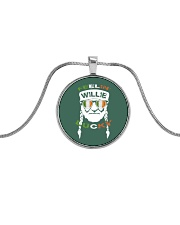 Feeling Willie Lucky Irish Flag St Patrick's Day Metallic Circle Necklace thumbnail