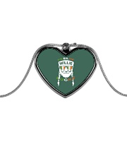 Feeling Willie Lucky Irish Flag St Patrick's Day Metallic Heart Necklace tile