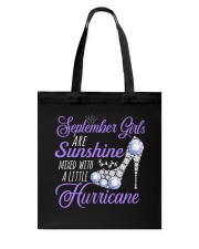 September Girls Are Sunshine Mixed With  Hurricane Tote Bag tile