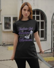 September Girls Are Sunshine Mixed With  Hurricane Classic T-Shirt apparel-classic-tshirt-lifestyle-19