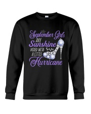September Girls Are Sunshine Mixed With  Hurricane Crewneck Sweatshirt thumbnail