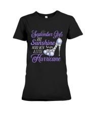 September Girls Are Sunshine Mixed With  Hurricane Premium Fit Ladies Tee thumbnail