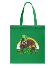 Irish Cute Sloth St Patrick's Day T-Shirt Tote Bag back