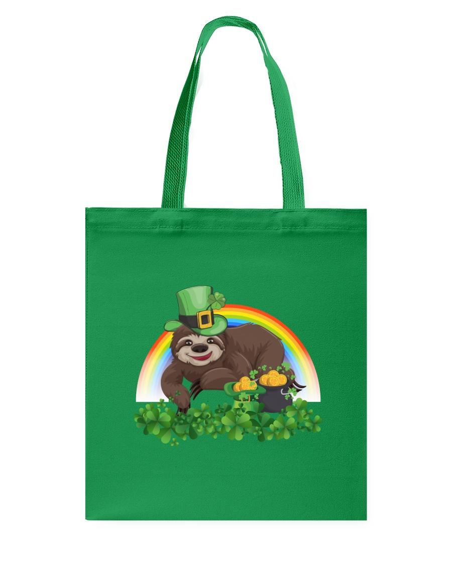Irish Cute Sloth St Patrick's Day T-Shirt Tote Bag