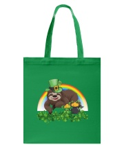 Irish Cute Sloth St Patrick's Day T-Shirt Tote Bag front