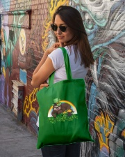Irish Cute Sloth St Patrick's Day T-Shirt Tote Bag lifestyle-totebag-front-1