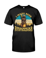 I Make Beer Disappear It's My Superpower Camping Classic T-Shirt front