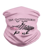 In October We Wear Pink Pumpkin Breast Ribbon Neck Gaiter thumbnail