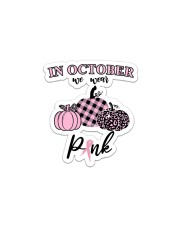 In October We Wear Pink Pumpkin Breast Ribbon Sticker - Single (Vertical) thumbnail