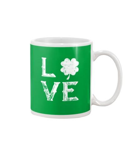 Vintage Love Shamrock Irish St Patrick's Day