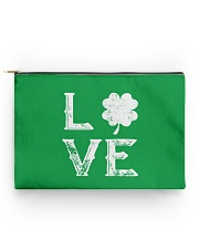 Vintage Love Shamrock Irish St Patrick's Day Accessory Pouch - Standard thumbnail
