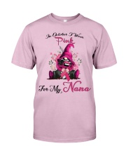 In October I Wear Pink For My Nana Gnome Breast  Classic T-Shirt thumbnail