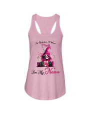 In October I Wear Pink For My Nana Gnome Breast  Ladies Flowy Tank thumbnail