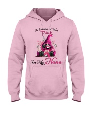 In October I Wear Pink For My Nana Gnome Breast  Hooded Sweatshirt thumbnail