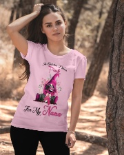 In October I Wear Pink For My Nana Gnome Breast  Ladies T-Shirt apparel-ladies-t-shirt-lifestyle-06
