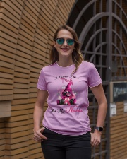 In October I Wear Pink For My Nana Gnome Breast  Ladies T-Shirt lifestyle-women-crewneck-front-2