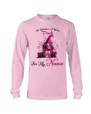 In October I Wear Pink For My Nana Gnome Breast  Long Sleeve Tee thumbnail